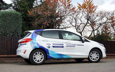 Reklama na Samochodach Ford Fiesta i Transit