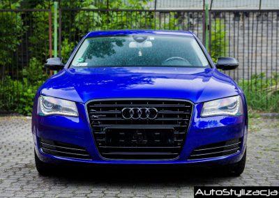 Zmiana Koloru Lakieru Auta Audi A8 na Gloss Blue Raspberry