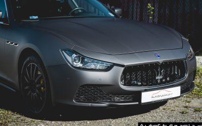 Zmiana Koloru Auta Maserati Ghibli z Biała Perła na Matowy Metalik